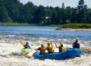 beware of rafts coming downstream!