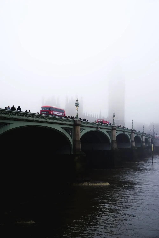 london bridge on a foggy day