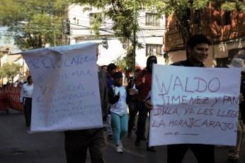 Marcha estudiantil del 31 de julio, contra la toma violenta de la UMSS por los grupos de choque (Foto: Chaski Clandestinx)