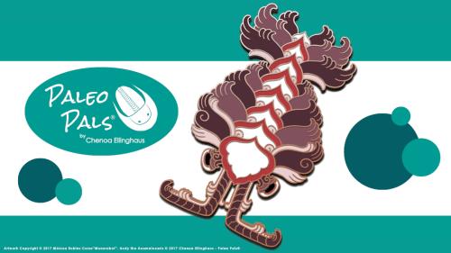 Kickstarter campaign ad for Monarobot's Anomalocaris Paleo Pal pin