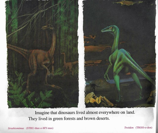 Struthiomimus and Troodon