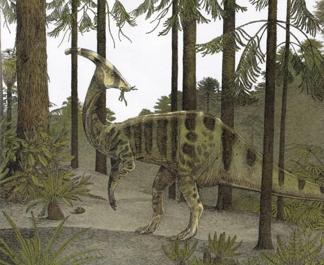 Camouflaged Parasaurolophus