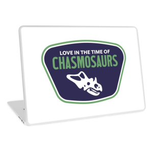 Love in the Time of Chasmosaurs logo laptop cover