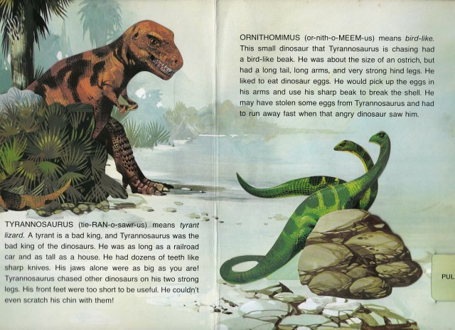 T. rex and Ornithomimus