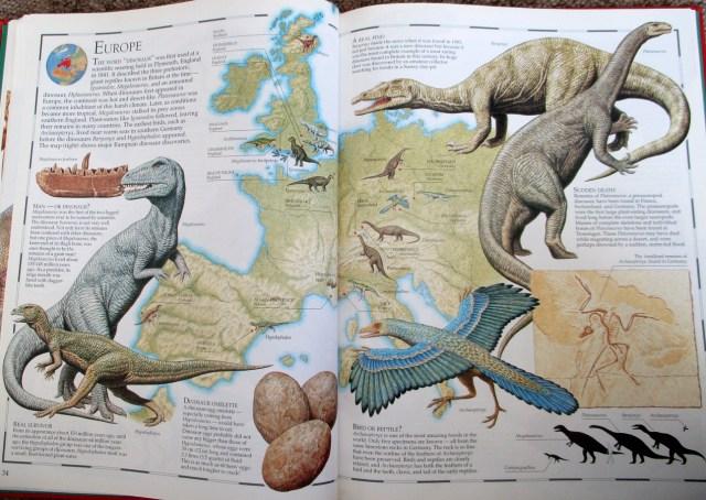 Europe map - Great Dinosaur Atlas