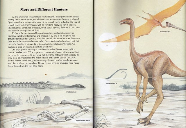 Struthiomimus and chums by Christopher Santoro