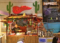 Mexican food stand.