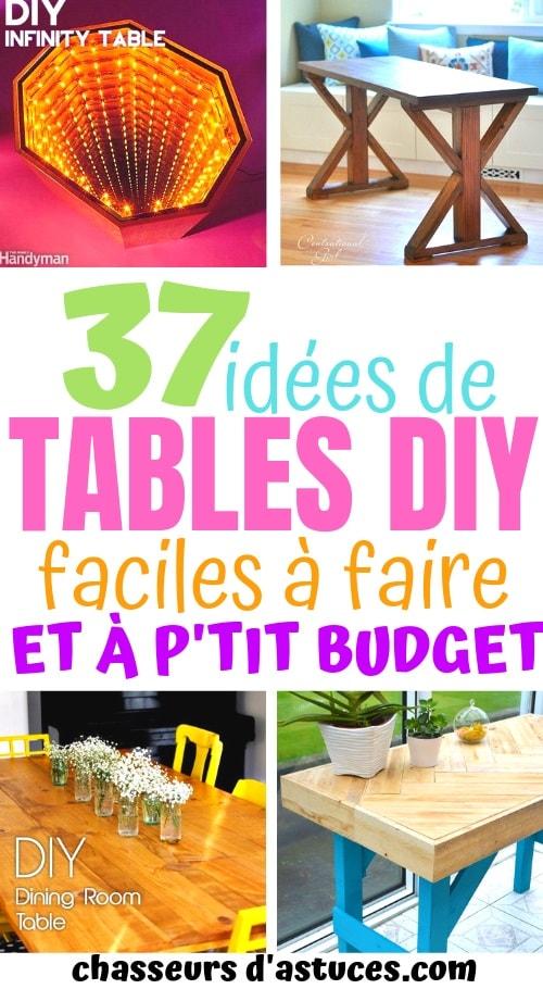 37 idees de tables diy peu couteuses et