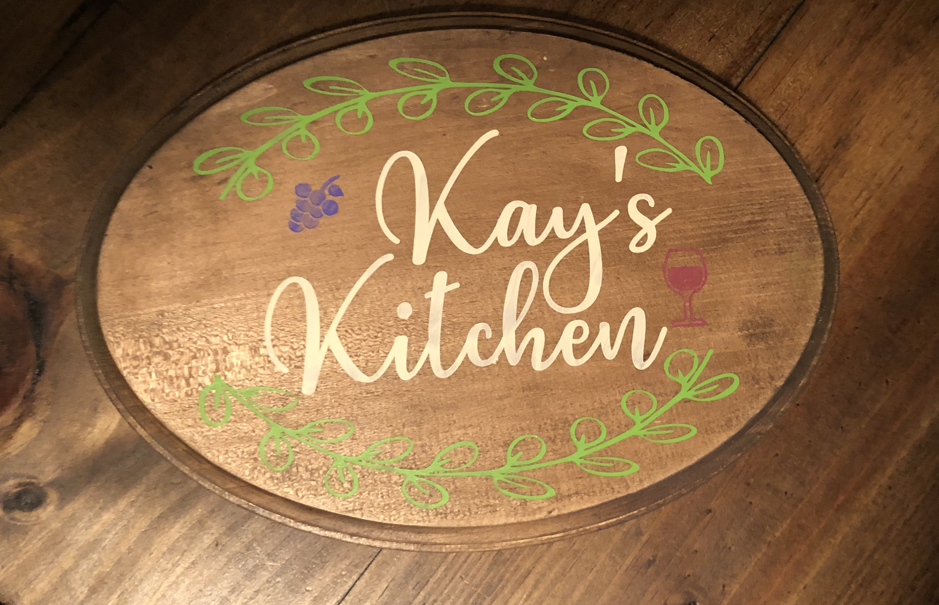 wood sign painted
