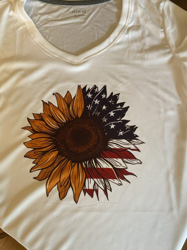 sunflower American flag t-shirt partriotic