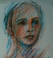 Female head detail #4