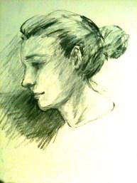 Drop by drawing participant at NGV January 2013