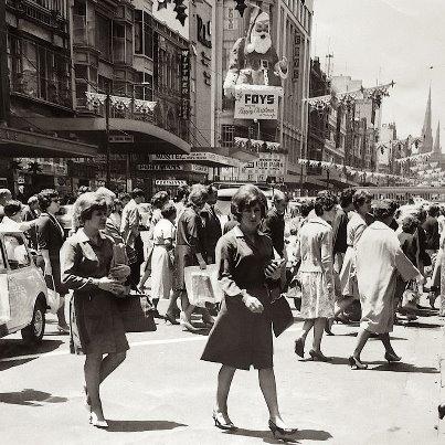 Shopping in Bourke St 1960s