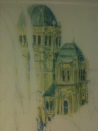 Exhibition Buildings paint sketch