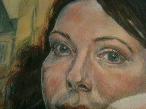 Portrait of a Young Woman - detail stage 5