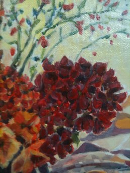 Red Bank Beauty detail - Paint layer #3
