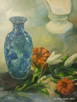 Blue Vase #4 - Finishing highlights