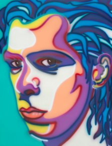 Nick Cave 1999 Portrait by Howard Arkley Synthetic polymer paint on canvas, 175 x 135 National Portrait Gallery, Canberra