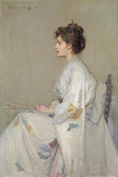 Lady in Grey John Longstaff 1890