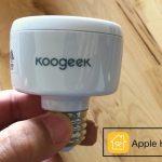 KoogeekスマートソケットでSiriから照明の操作ができた!!