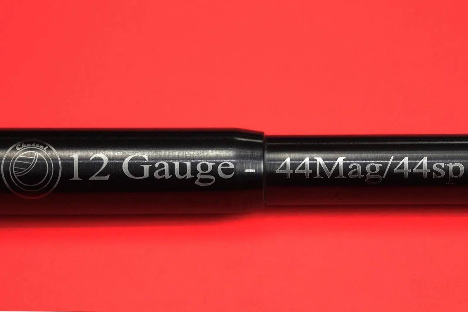 12ga to 44cal 18in Shotgun Adapter text