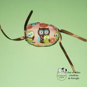 Bonbon et rubans, jouet créé pour chat et chien par Georgia
