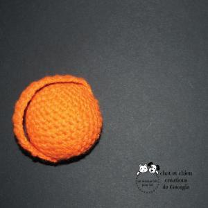 Ballanse coloris orange, balle créée pour chat et chien par Georgia