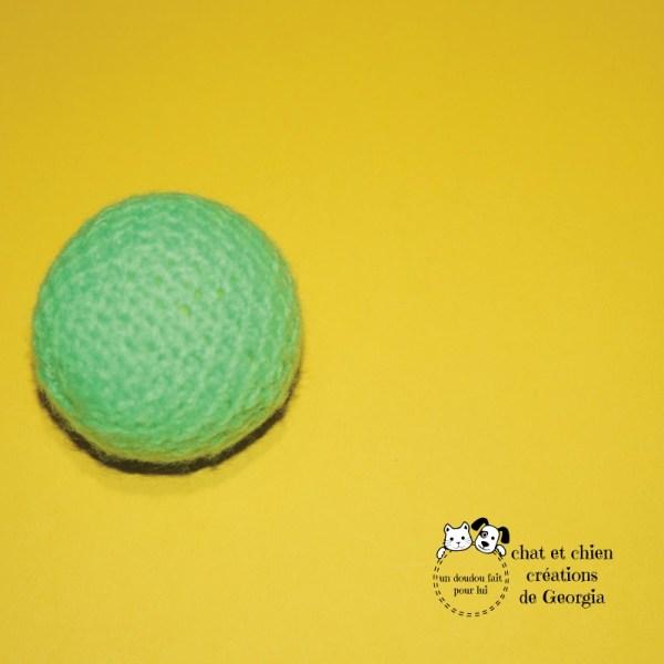 Ballaine vert fluo créée par Georgia