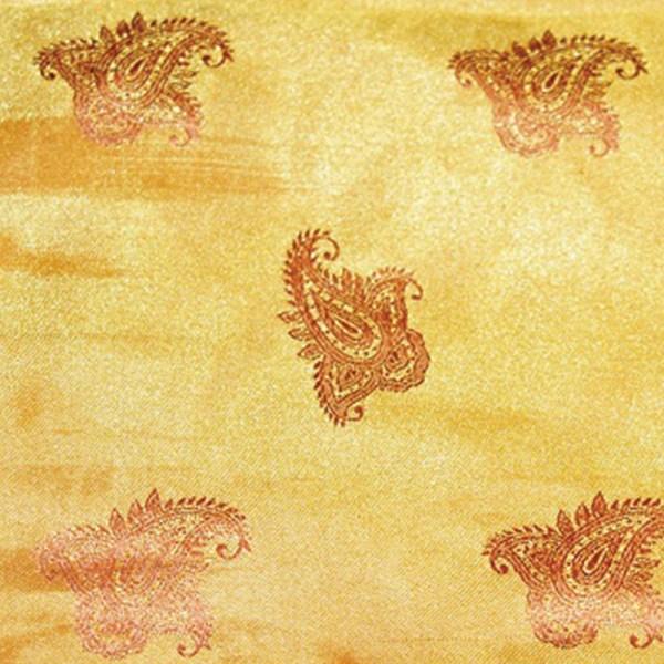 Tissu damassé thème Indes
