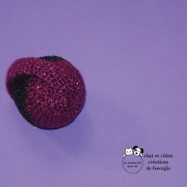 Ballanse bicolore lamée violet/ noir créée par Georgia
