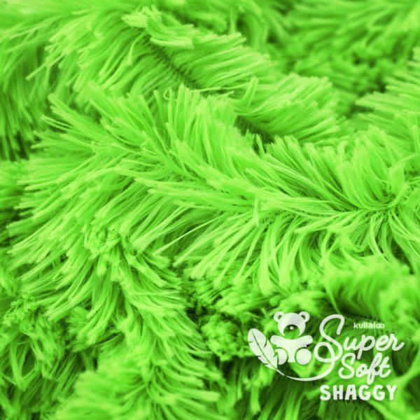 tissu Shaggy vert pour création par Georgia