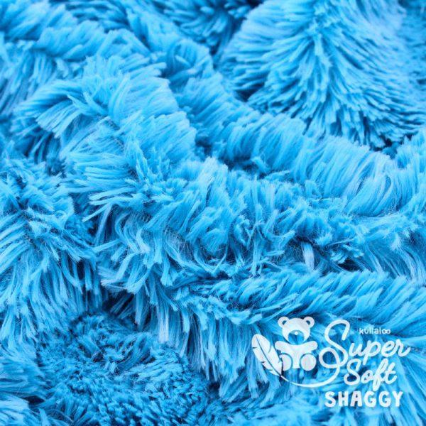 tissu Shaggy bleu pour création par Georgia