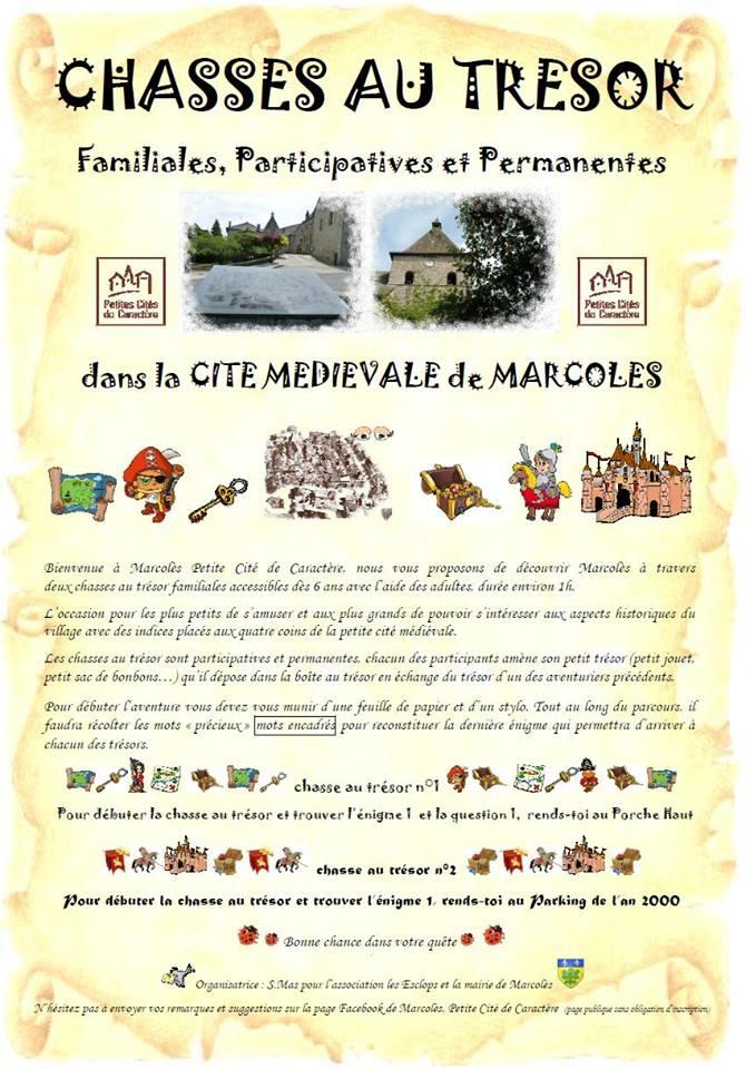 Chasses Au Tresor A Marcoles Office De Tourisme De La Chataigneraie Cantalienne