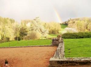Saconay - Arc en ciel sur le parc