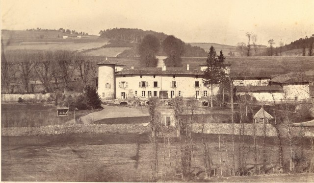 Saconay - Vue générale avant destruction de certains bâtiments au XIX°