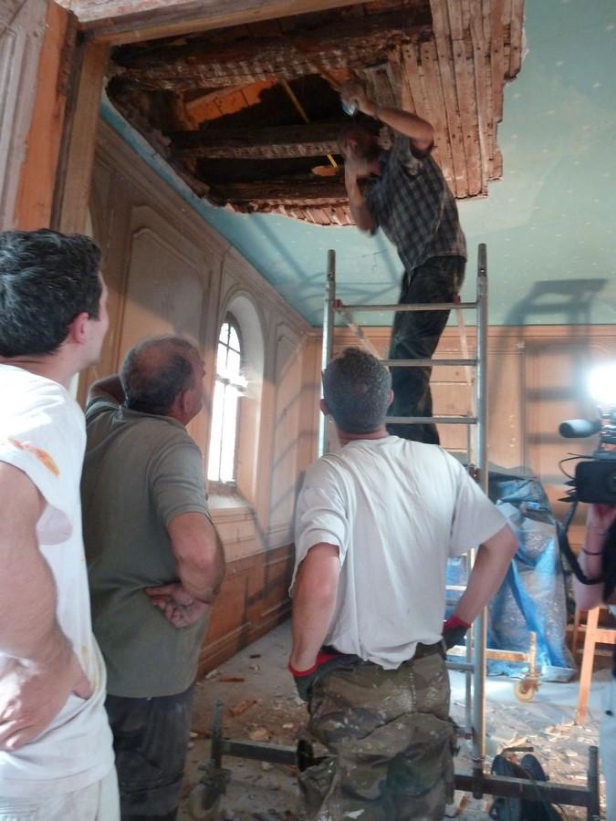 Saconay - On admire le travail de Guilhem