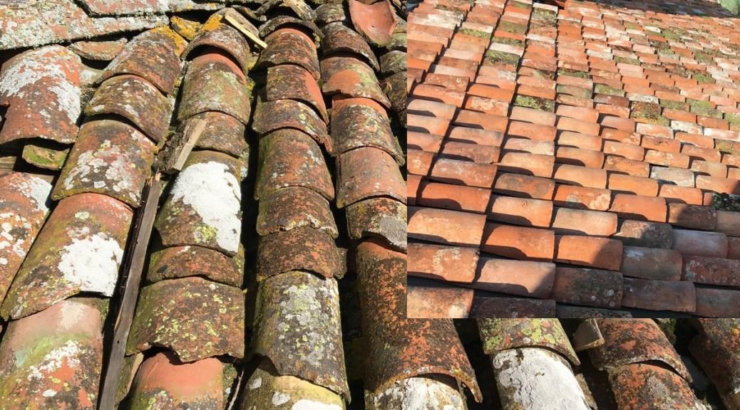 Saconay - Les toits avant et après