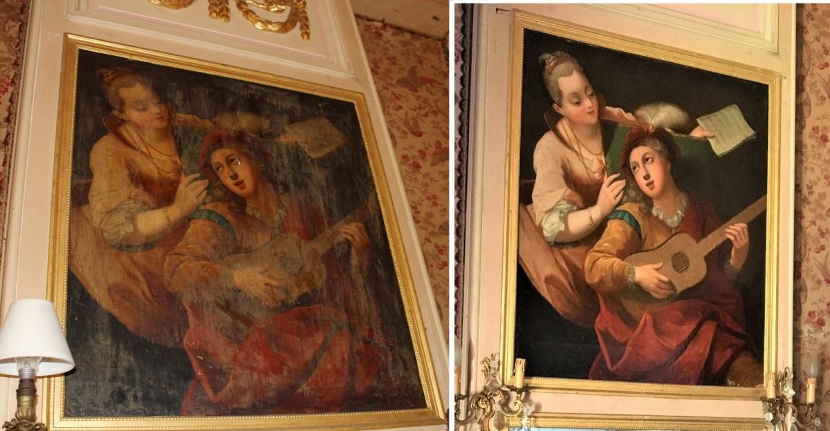 Saconay - Trumeau restauré