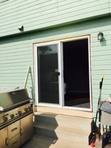 New patio door installed, waiting on trim.