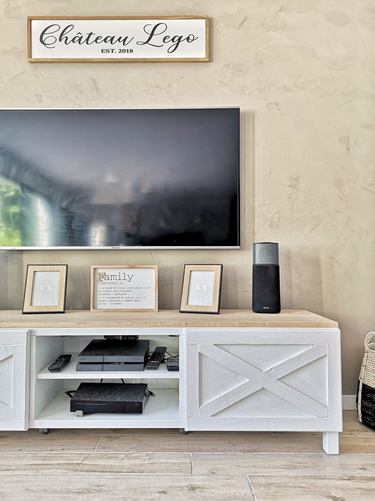 ikea hack du meuble tv besta chateau leg0