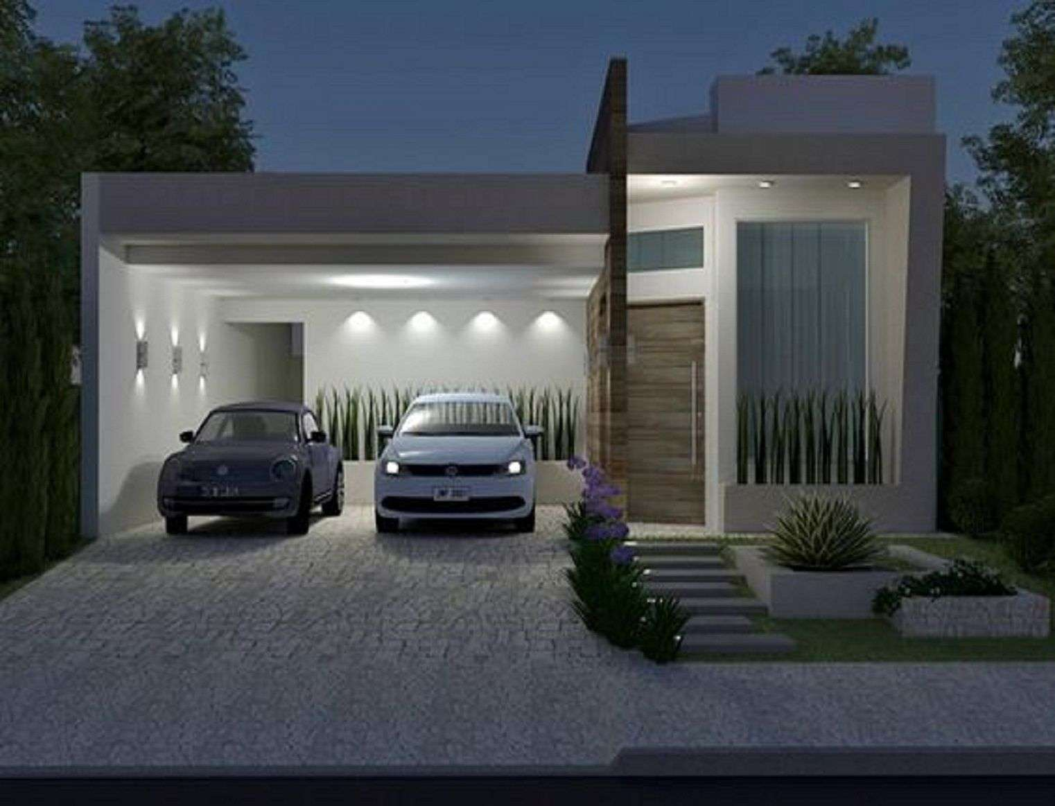 3. Minimalist Small house with Garage