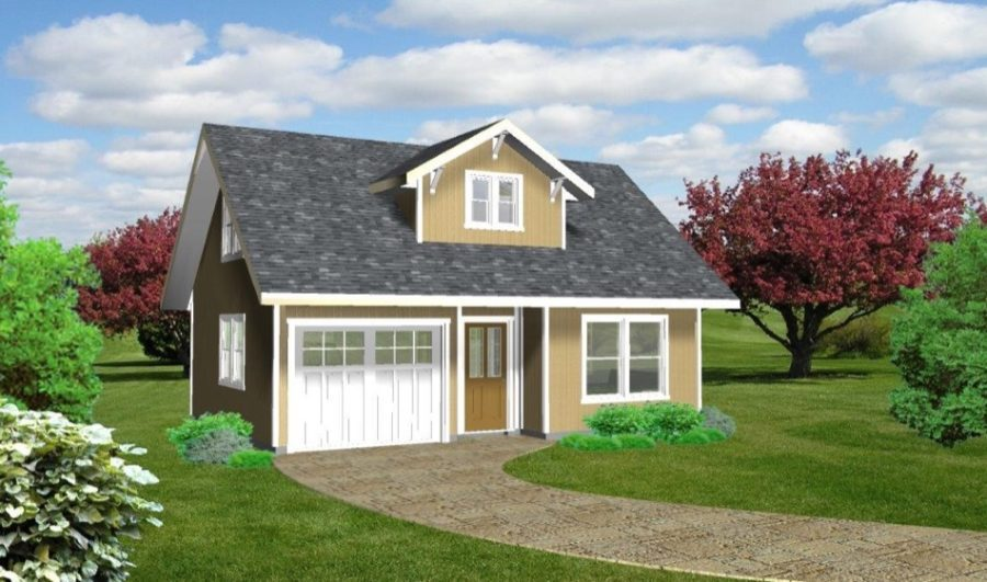 1. Proportional Small House Idesa with Garage