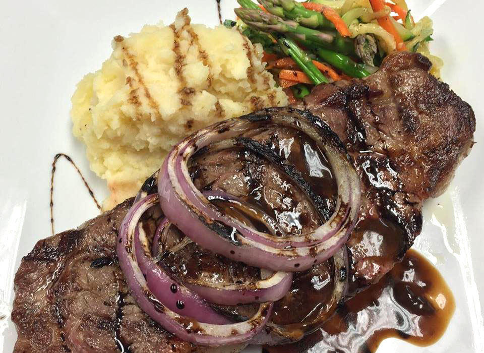 Some of our most popular entrees New York strip steak include hamburgers, meatloaf, roast duck and pork.