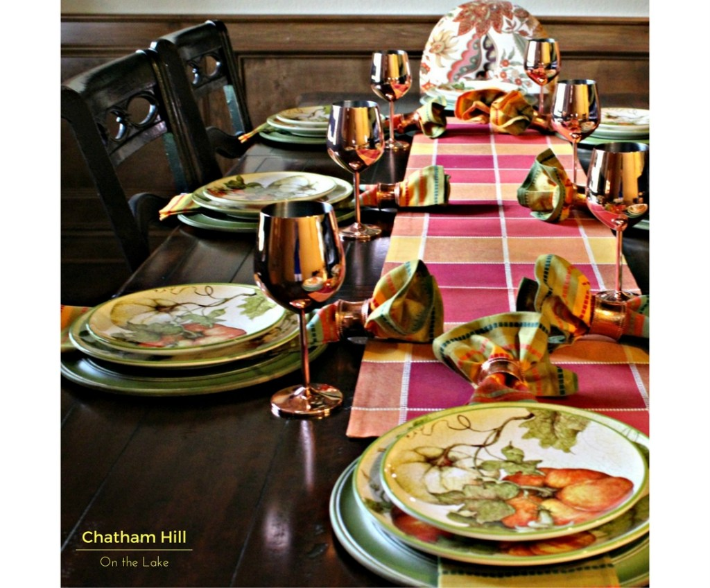 My Layers for Building a Fall Tablescape www.chathamhillonthelake.com