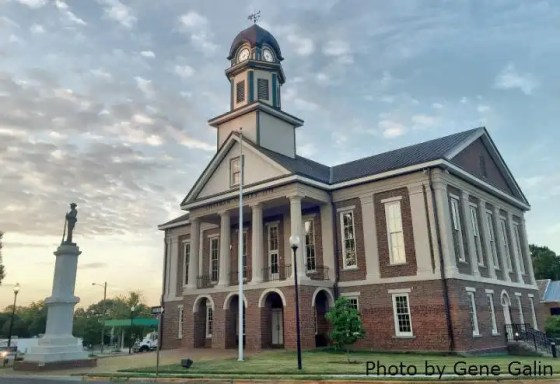 Chatham County Courthouse in downtown Pittsboro, NC