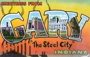 Gary Indiana postcard