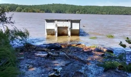 Jordan Lake high waters