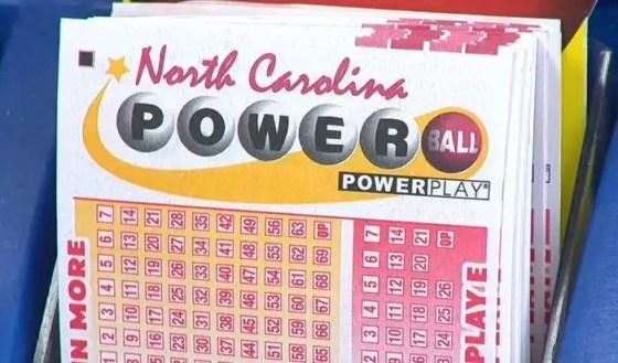 North Carolina Powerball ticket