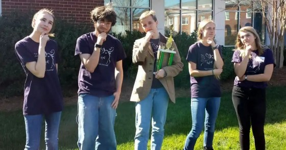 Woods Charter High School envirothon team
