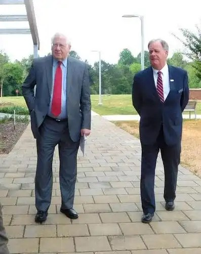 Congressman Price is pictured with CCCC President Dr. T. Eston Marchant (right).